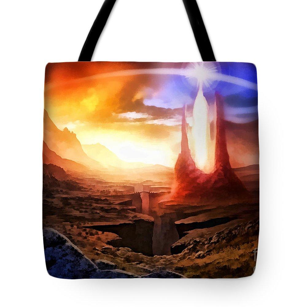 Fantasia Tote Bag featuring the digital art Fantasia by Mo T
