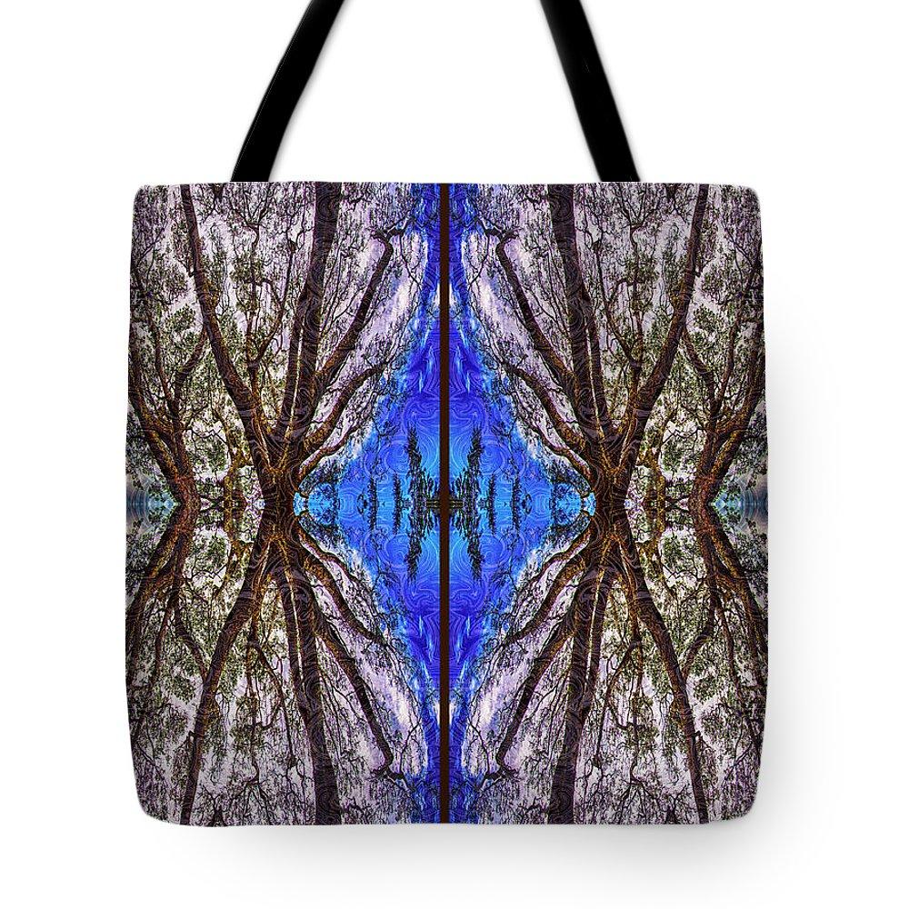 Georgia Okeefe Tote Bag featuring the digital art Fantasy Life by Omaste Witkowski