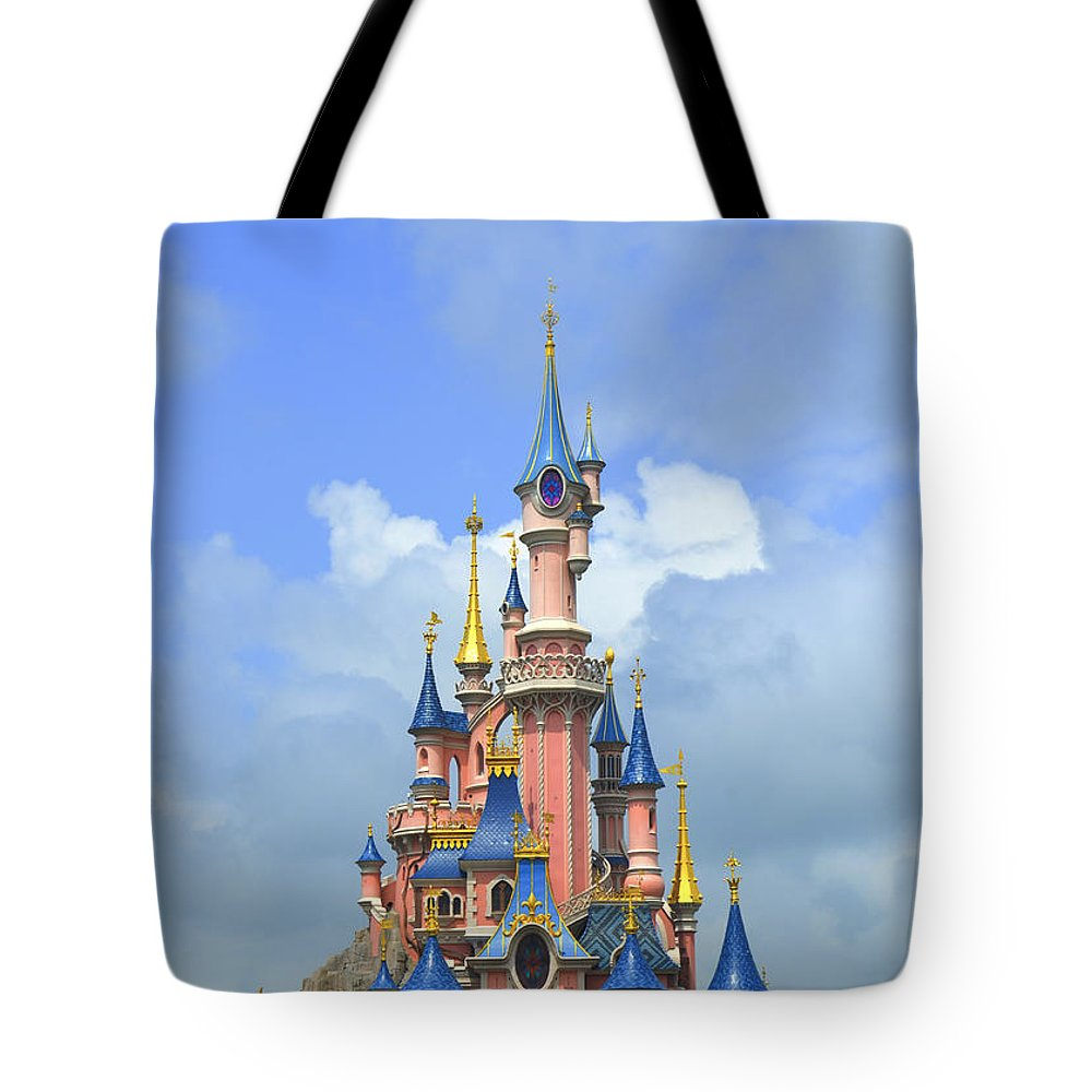 Fantasy Tote Bag featuring the photograph Fantasy Palace At Eurodisney by Amir Paz