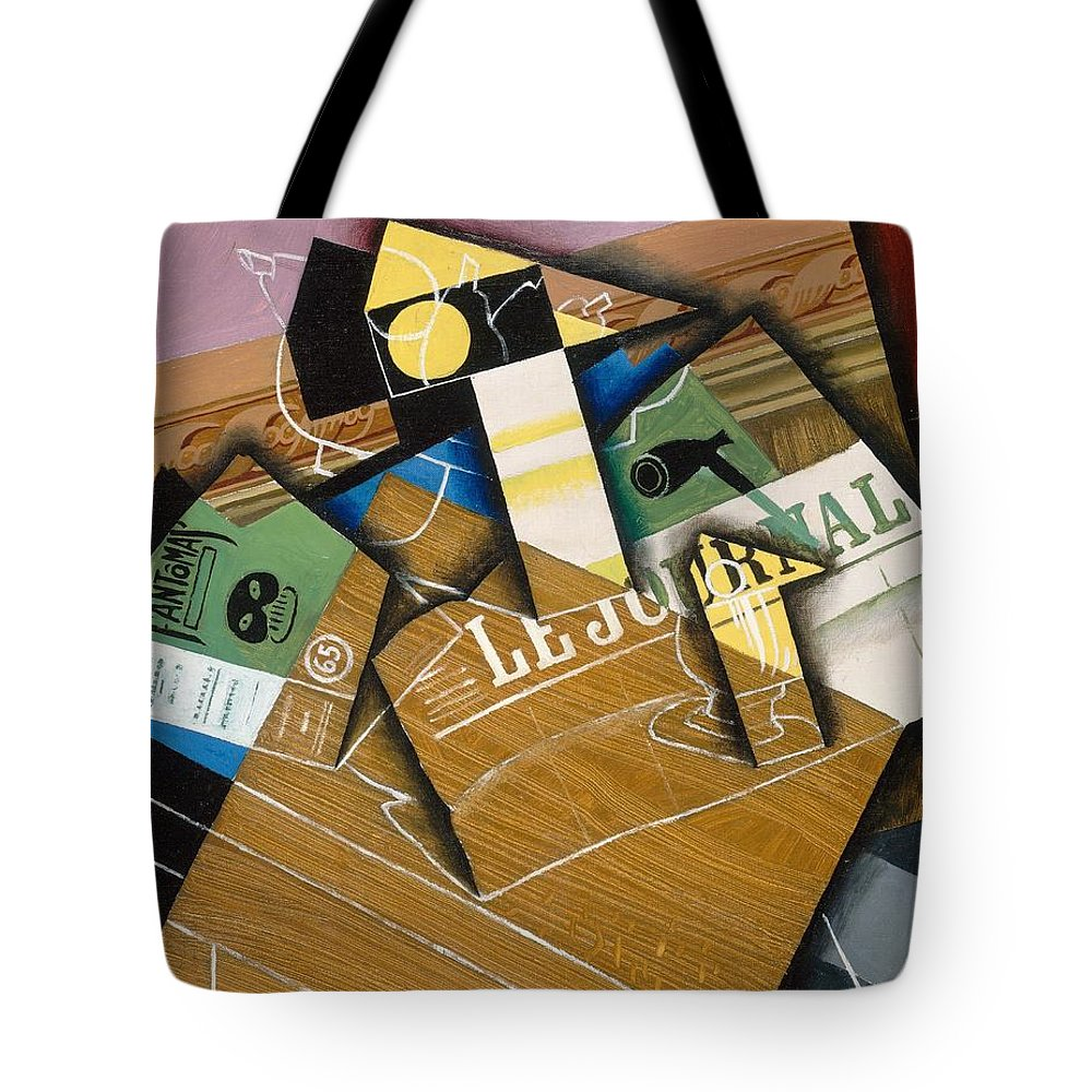 Abstract; Spanish; Still Life; Cubist; Cubism; Journal Tote Bag featuring the painting Fantomas by Juan Gris