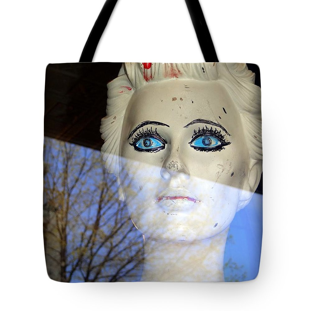 Mannequins Tote Bag featuring the photograph Far Away Eyes by Ed Weidman