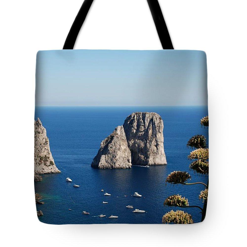 Faraglioni Tote Bag featuring the photograph Faraglioni In Capri by Dany Lison