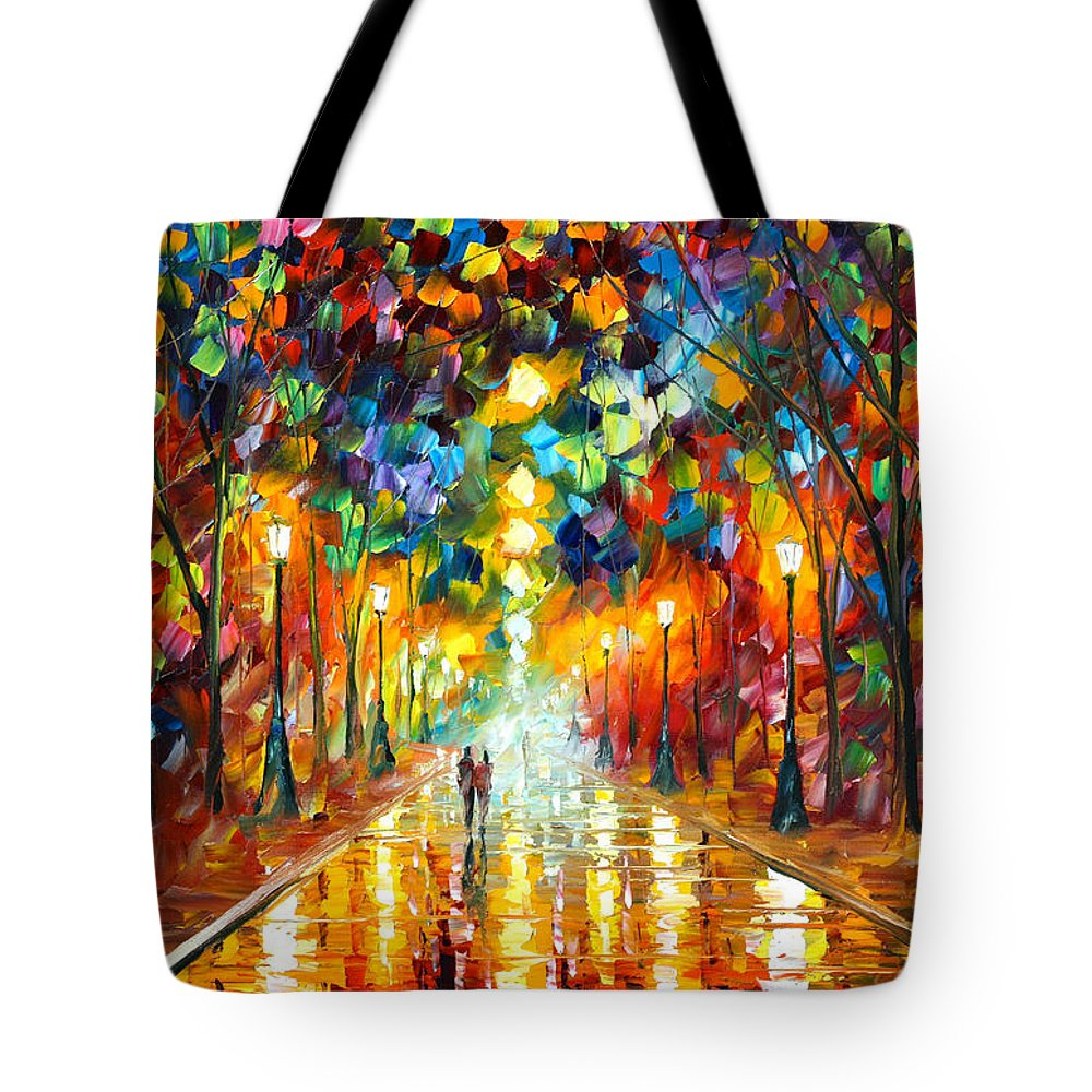 Farewell Tote Bag featuring the painting Farewell To Anger by Leonid Afremov