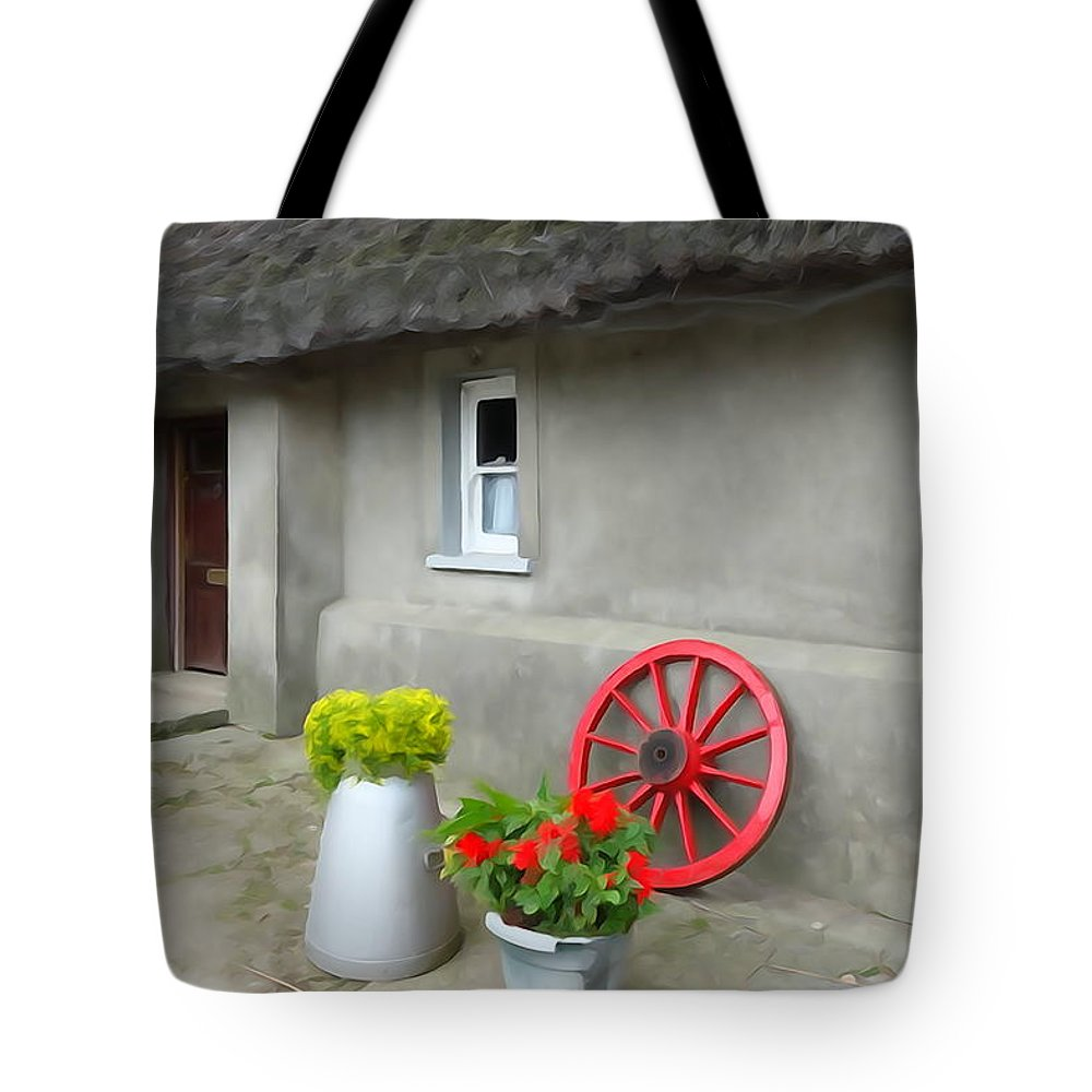 Farm Tote Bag featuring the photograph Farm Cottage by Charlie and Norma Brock
