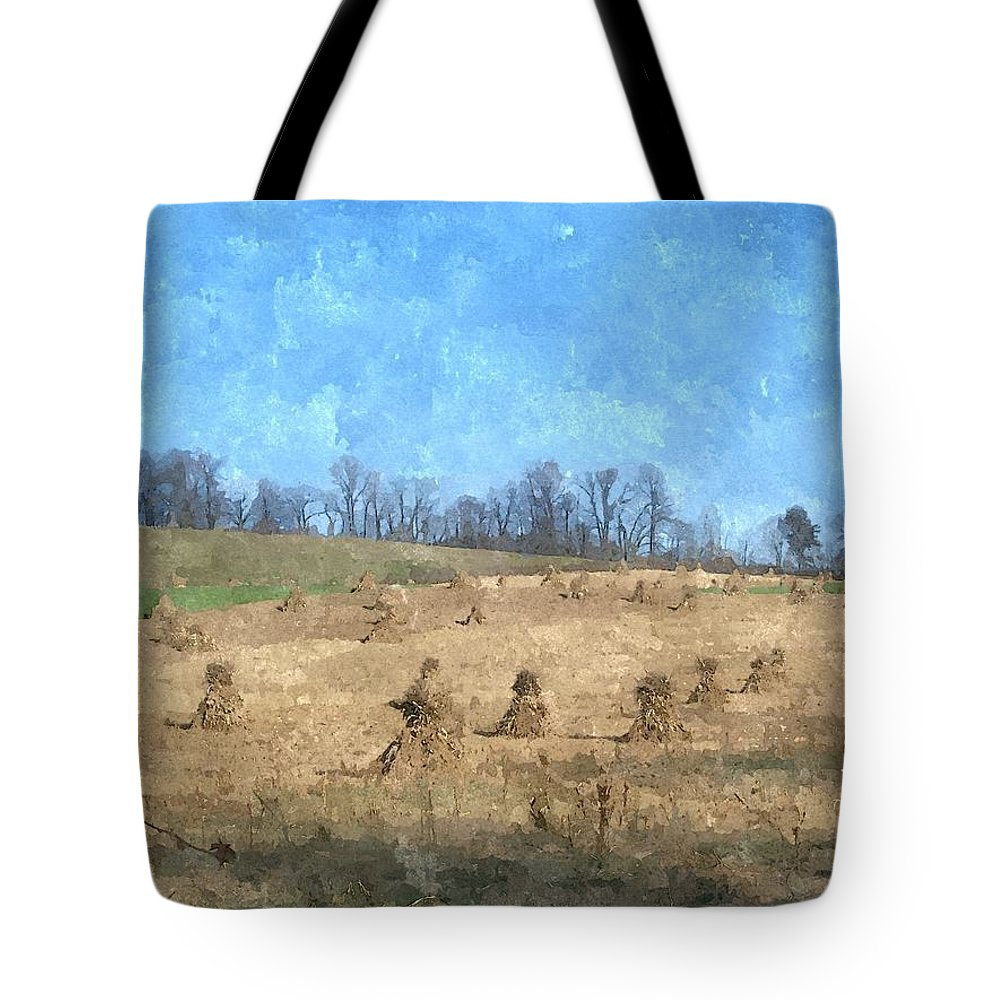 Farm Tote Bag featuring the painting Farm Days 2 by Sara Raber