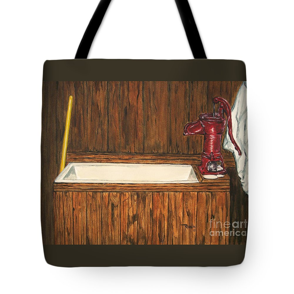 Farm Sink Tote Bag featuring the painting Farm Sink by Regan J Smith