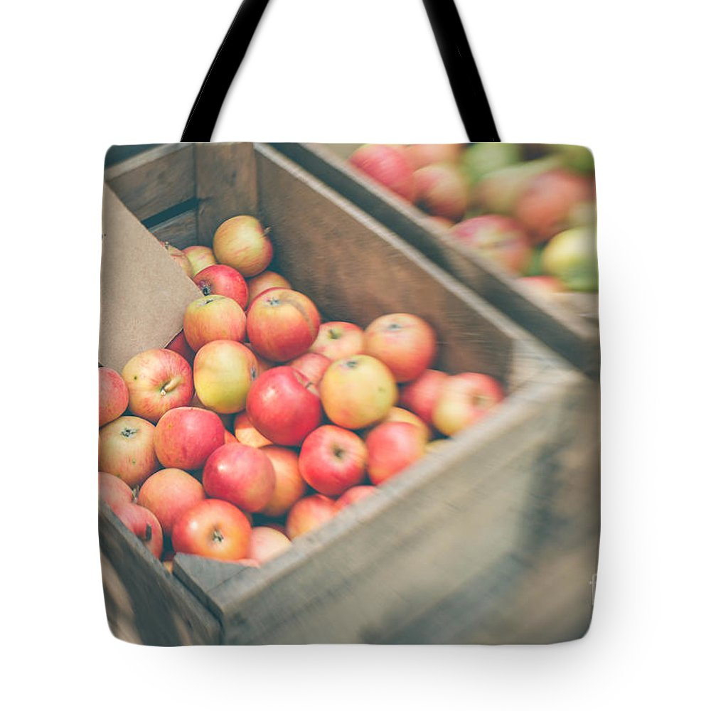 Apple Tote Bag featuring the photograph Farmers' Market Apples by Bethany Helzer