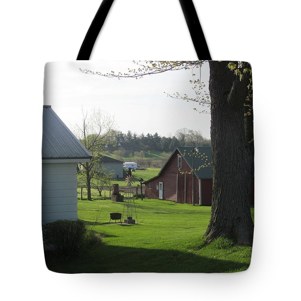 Farm Tote Bag featuring the photograph Farmland In Springtime by Tina M Wenger
