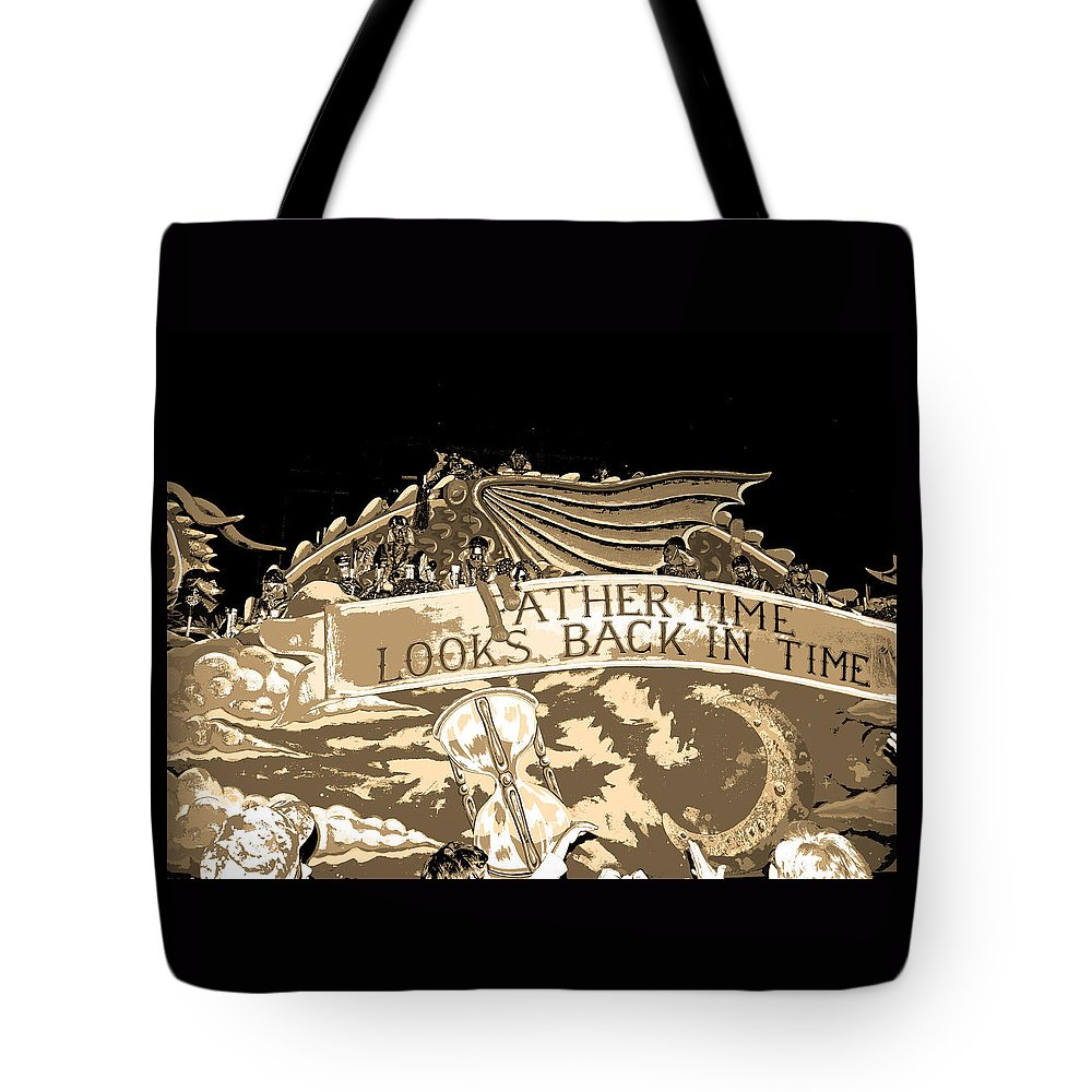 Computer Graphics Tote Bag featuring the photograph Father Time Looks Back by Marian Bell