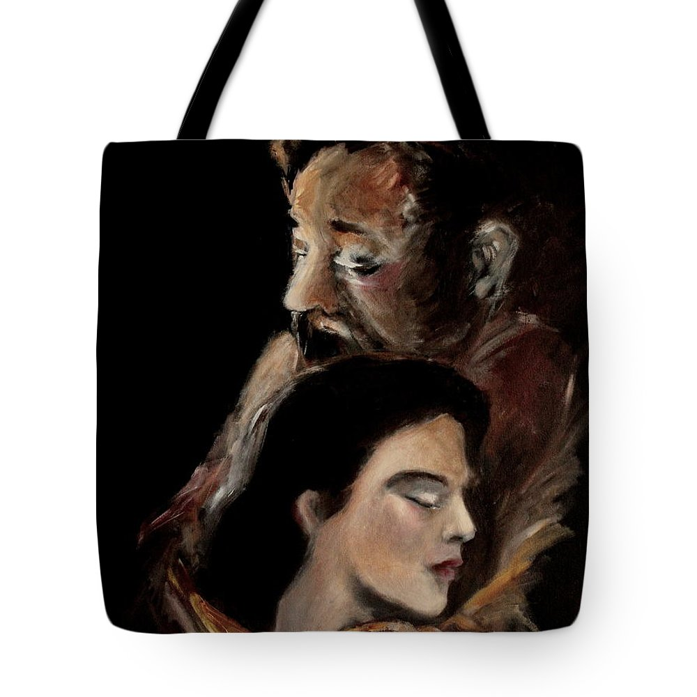 Father Tote Bag featuring the painting Father To The Fatherless by Jun Jamosmos