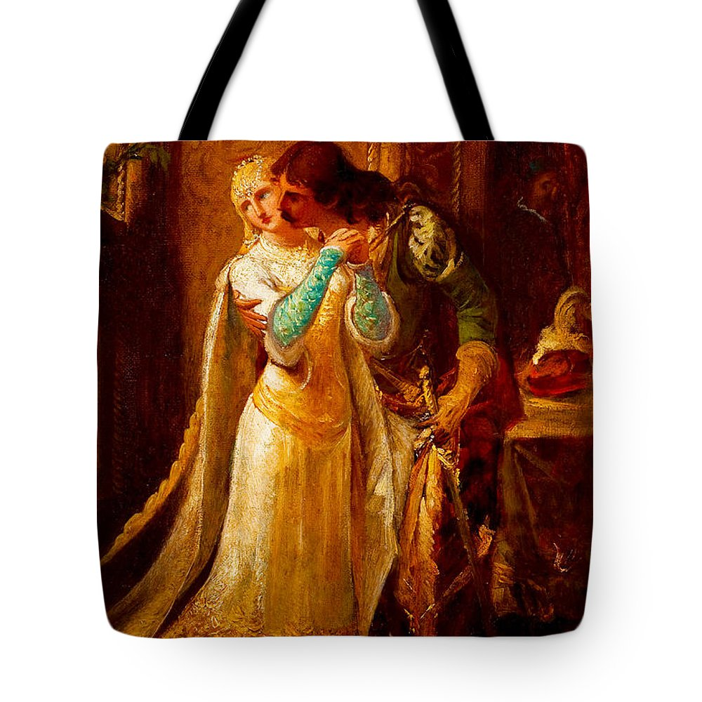 Pedro Americo Tote Bag featuring the digital art Faust And Gretchen by Pedro Americo