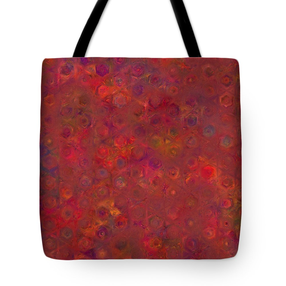 Abstract Tote Bag featuring the digital art Favorite Old Quilt 2 by Judi Suni Hall