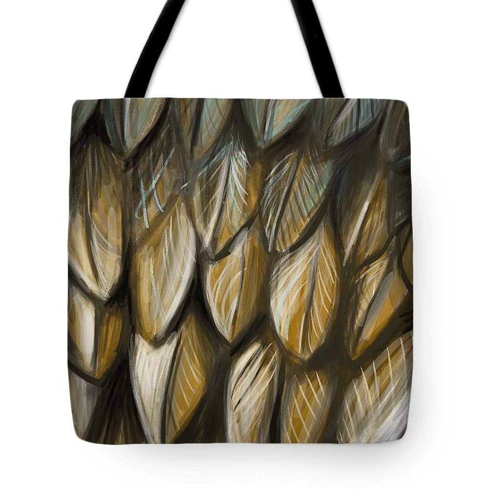 Feathers Tote Bag featuring the painting Feather 4 by Naomi McQuade