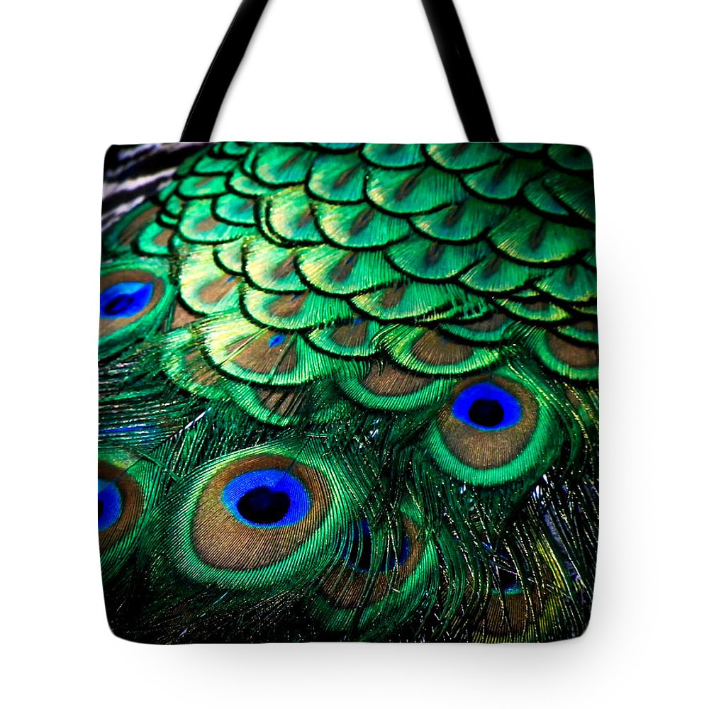 Exotic Birds Tote Bag featuring the photograph Feather Abstract by Karen Wiles