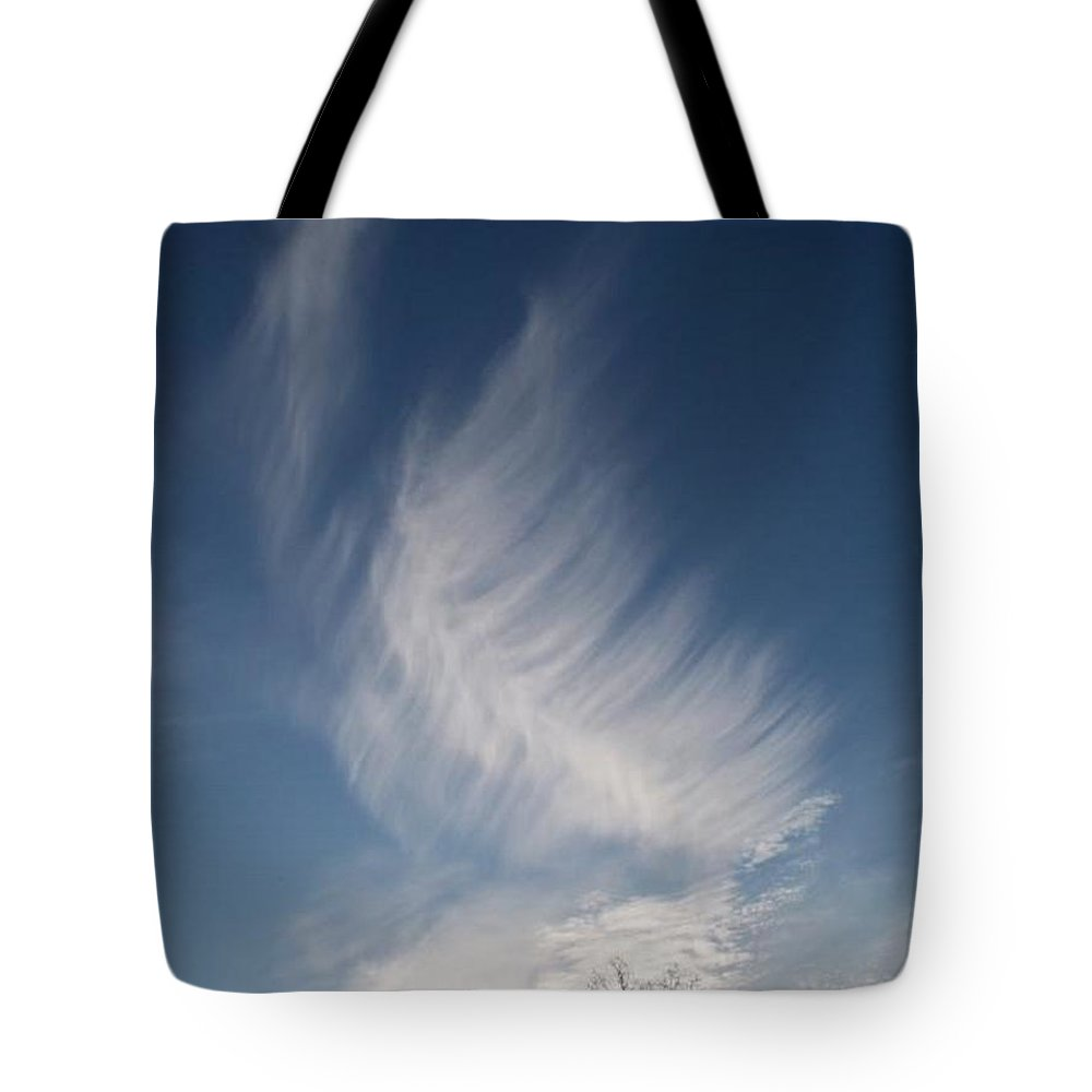 Angel Tote Bag featuring the photograph Feather Cloud By Diane Schiabor by Eric Schiabor