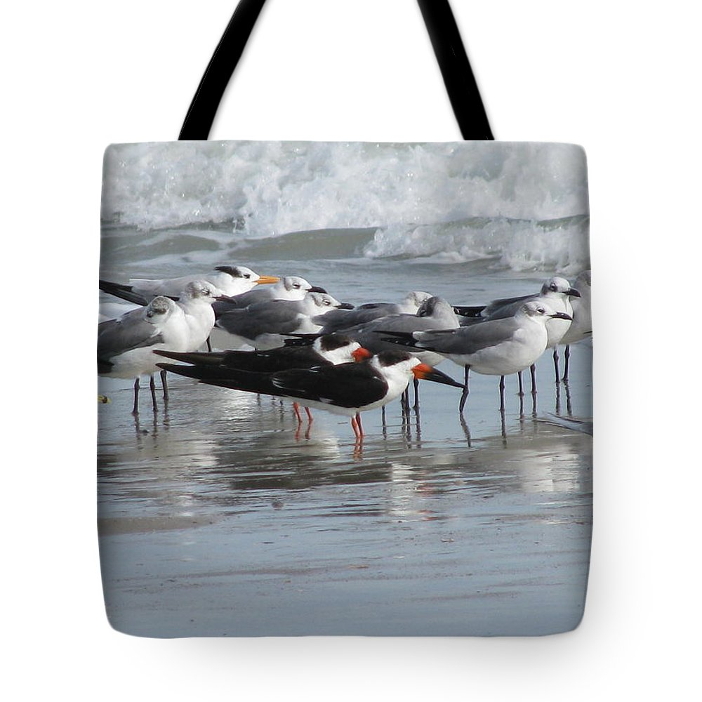 Animals Tote Bag featuring the photograph Feathered Friends by Ellen Meakin