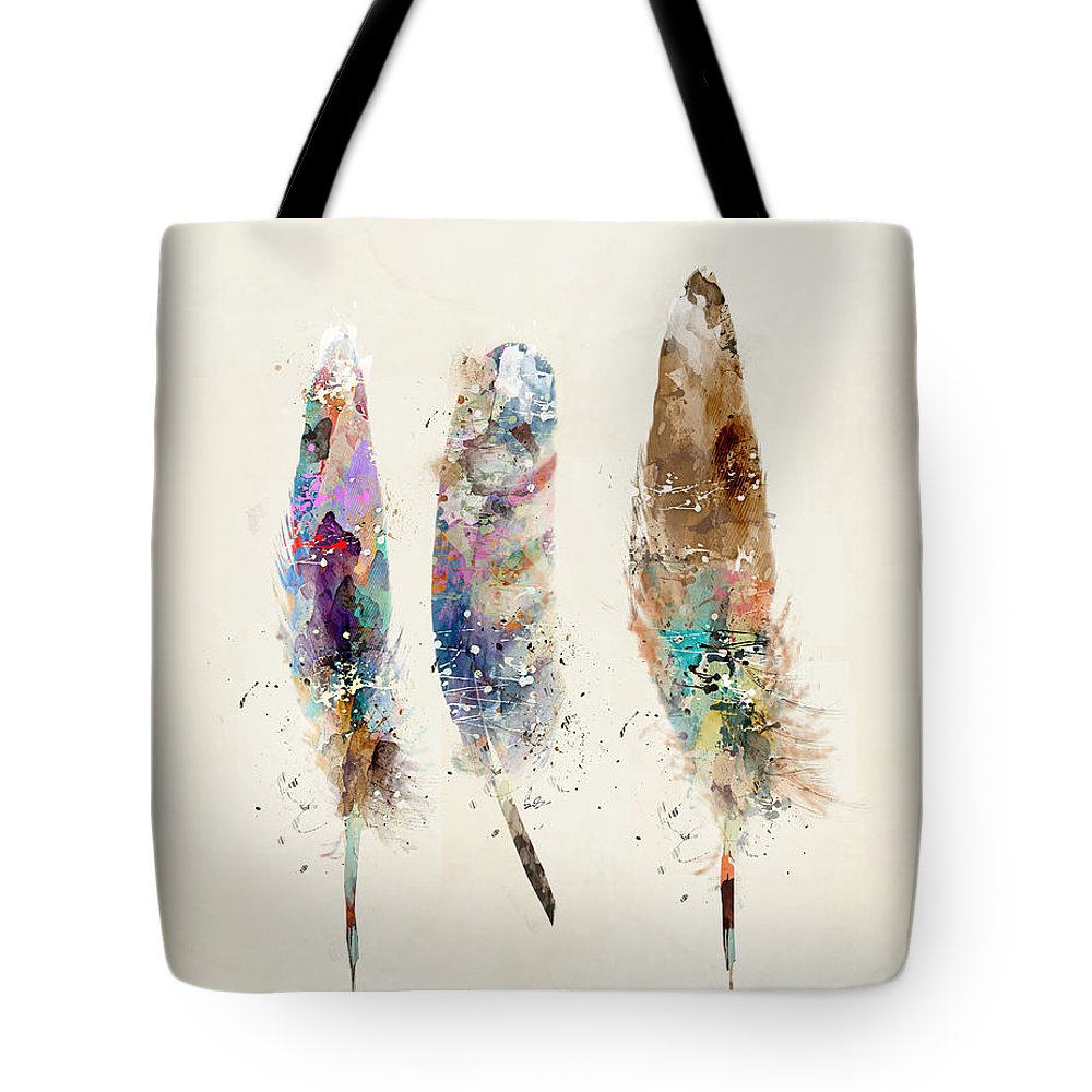 Feathers Tote Bag featuring the painting Feathers by Bri Buckley