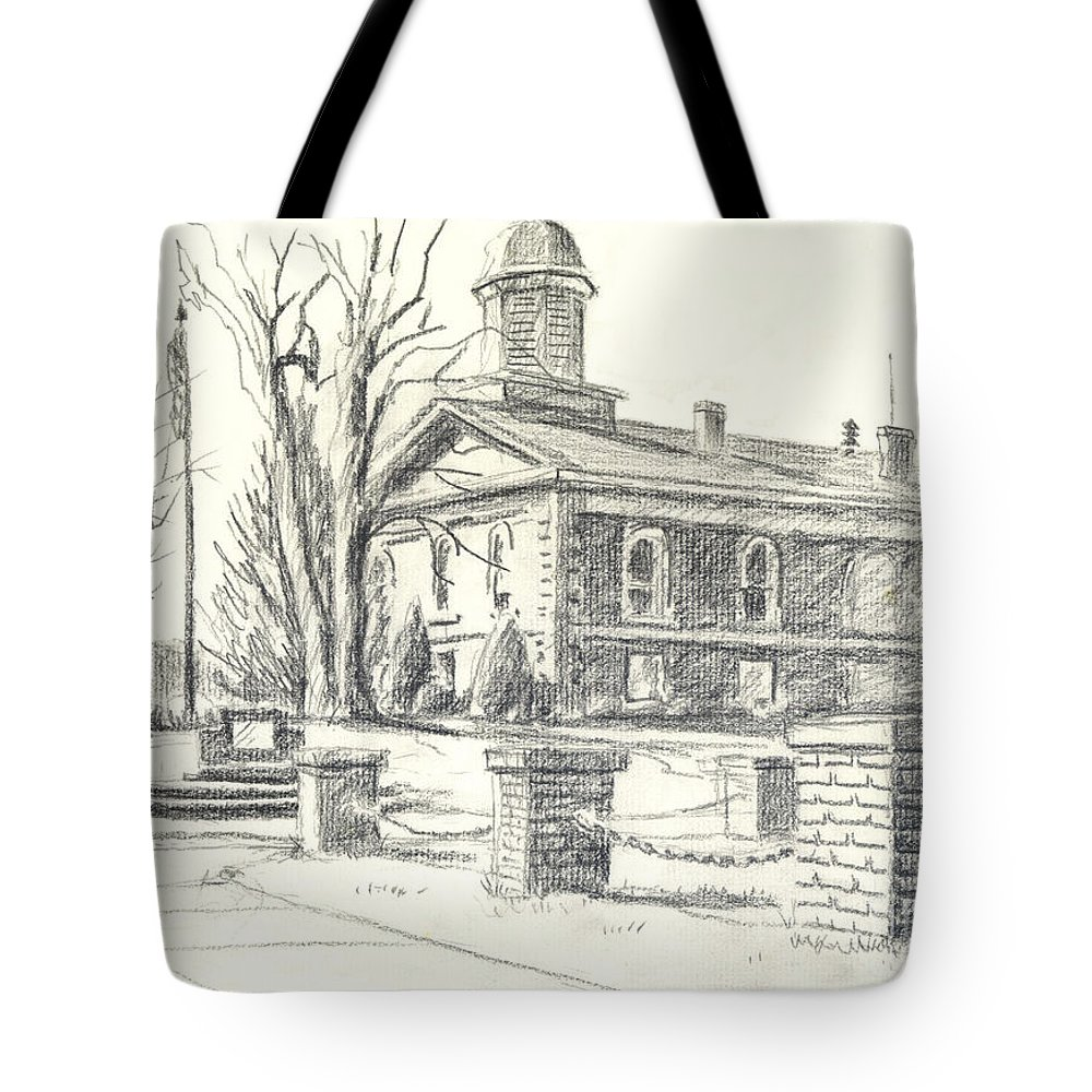 February Morning No Ctc102 Tote Bag featuring the drawing February Morning No Ctc102 by Kip DeVore