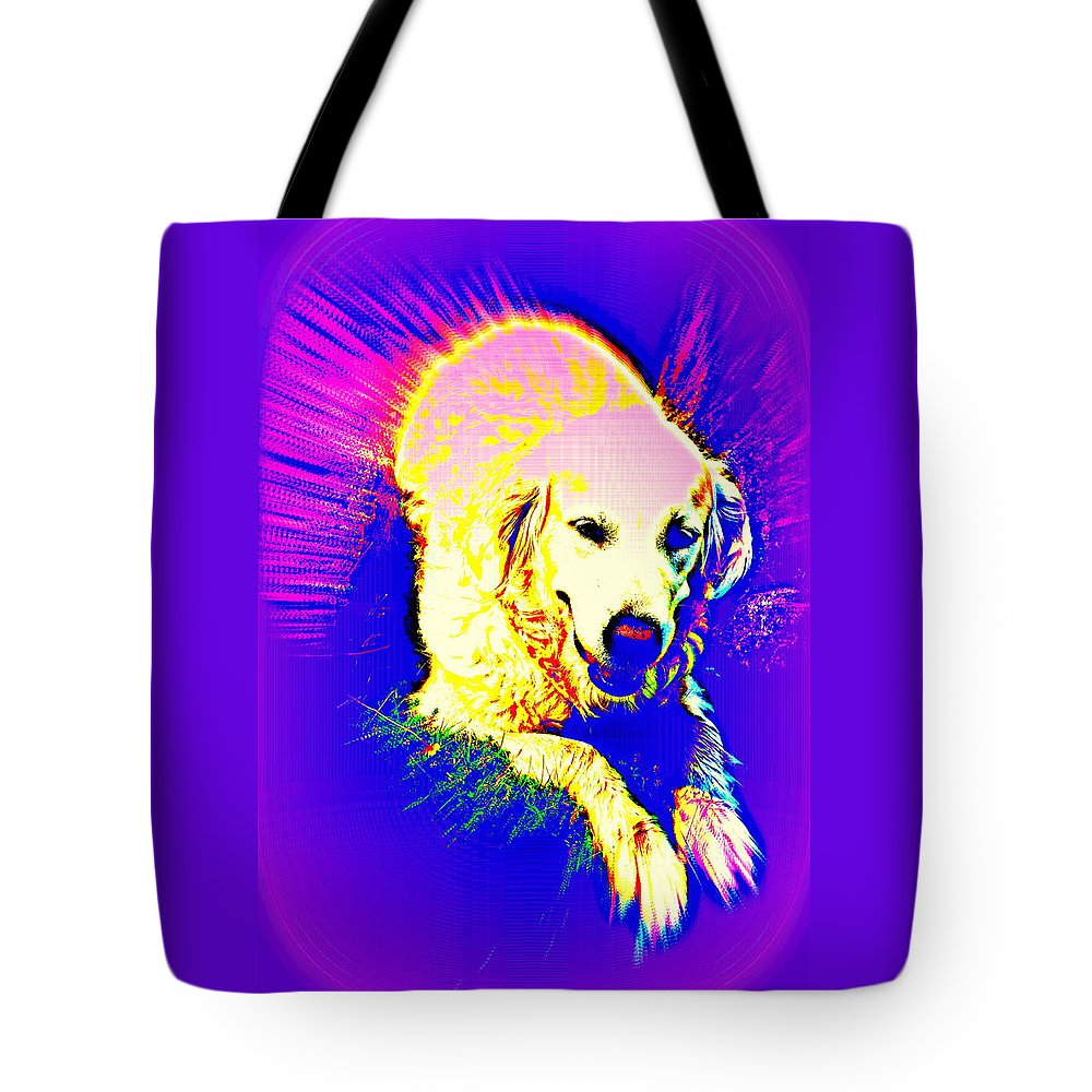 Dog Tote Bag featuring the photograph Feed Me Or Leave Me by Hilde Widerberg
