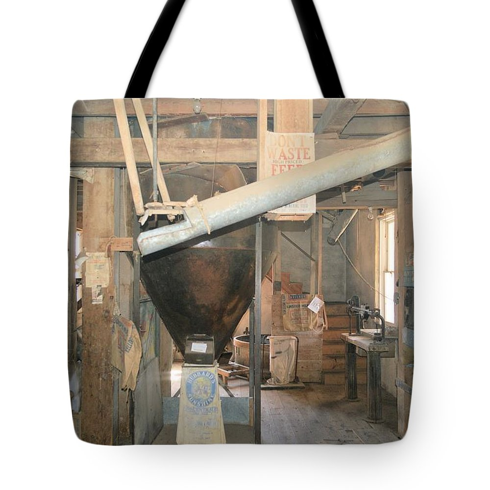 Lidtke Mill Tote Bag featuring the photograph Feed Mill by Bonfire Photography