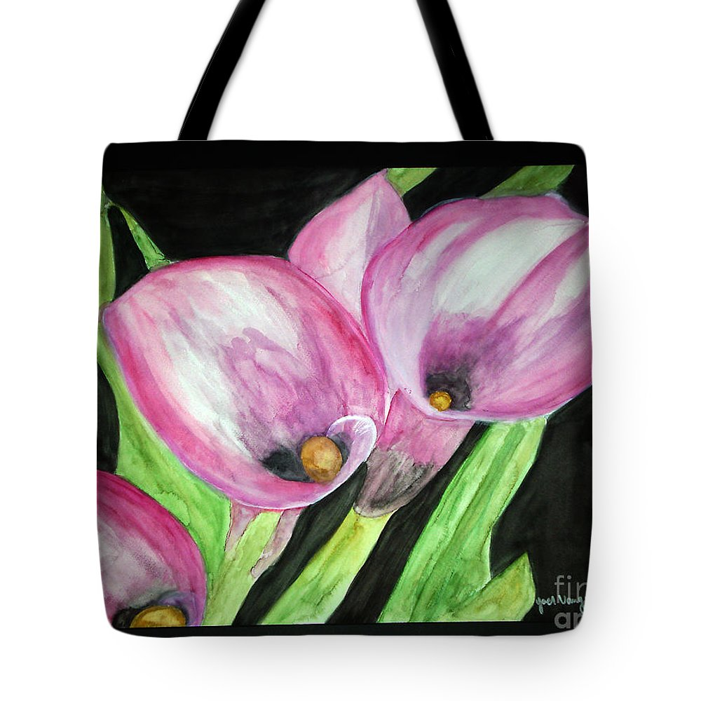 Water Color Flower Tote Bag featuring the painting Feel Me by Yael VanGruber