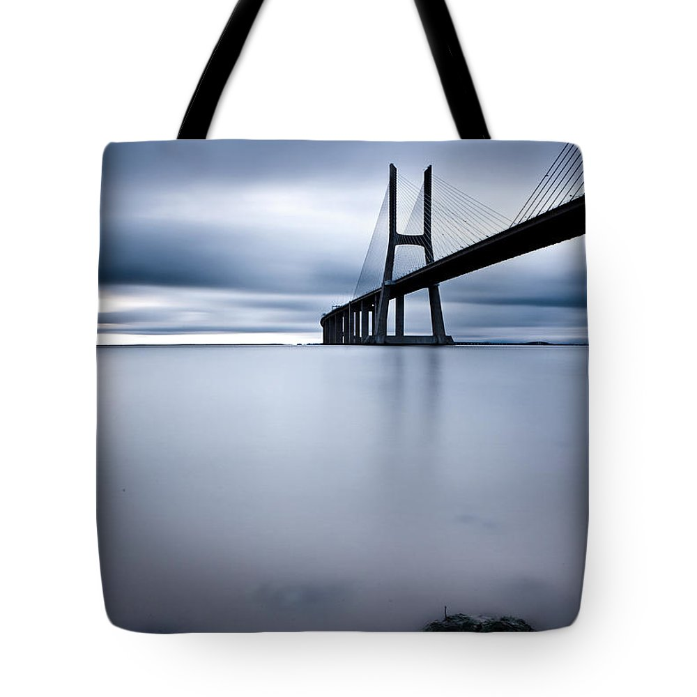 Lisbon Tote Bag featuring the photograph Feeling Blue by Jorge Maia