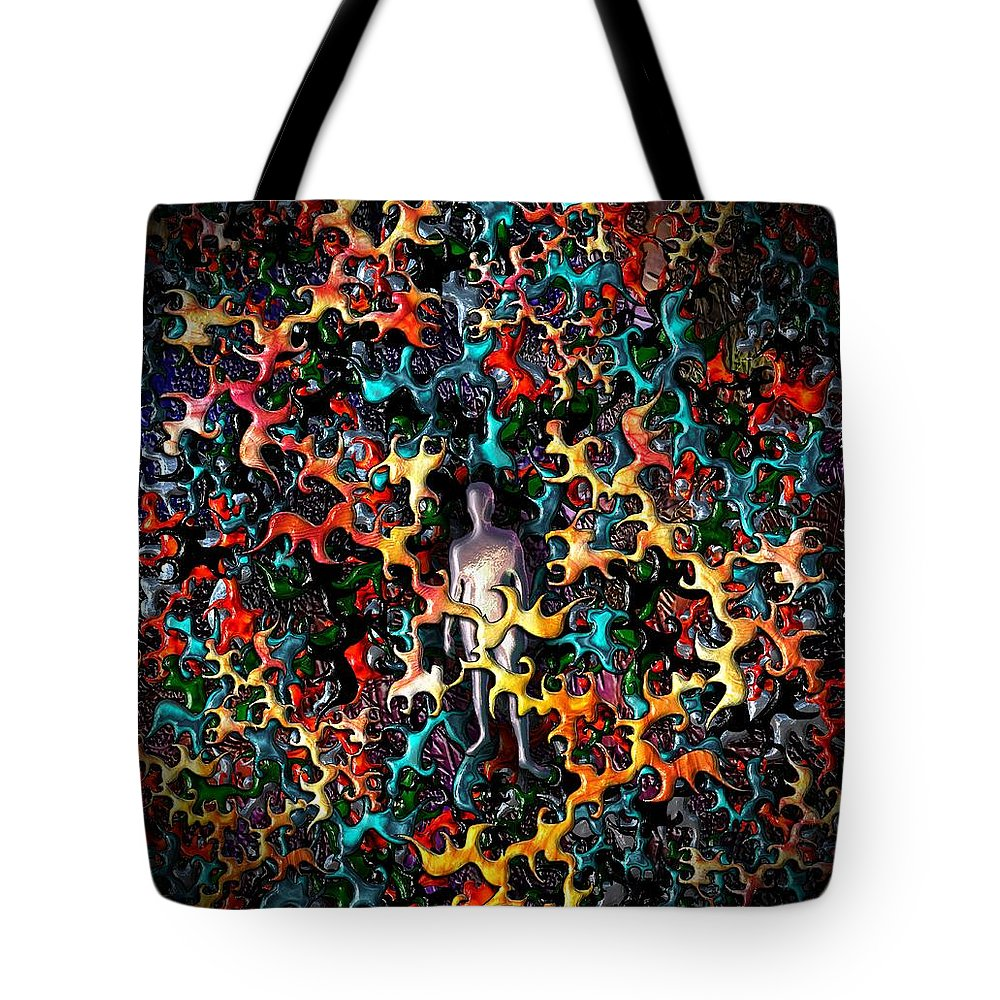 Feel Tote Bag featuring the digital art Feeling Exposed by Michael Hurwitz