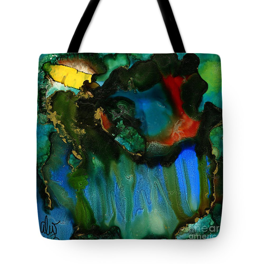 Ink Tote Bag featuring the painting Feeling Violated And Blue by Angela L Walker