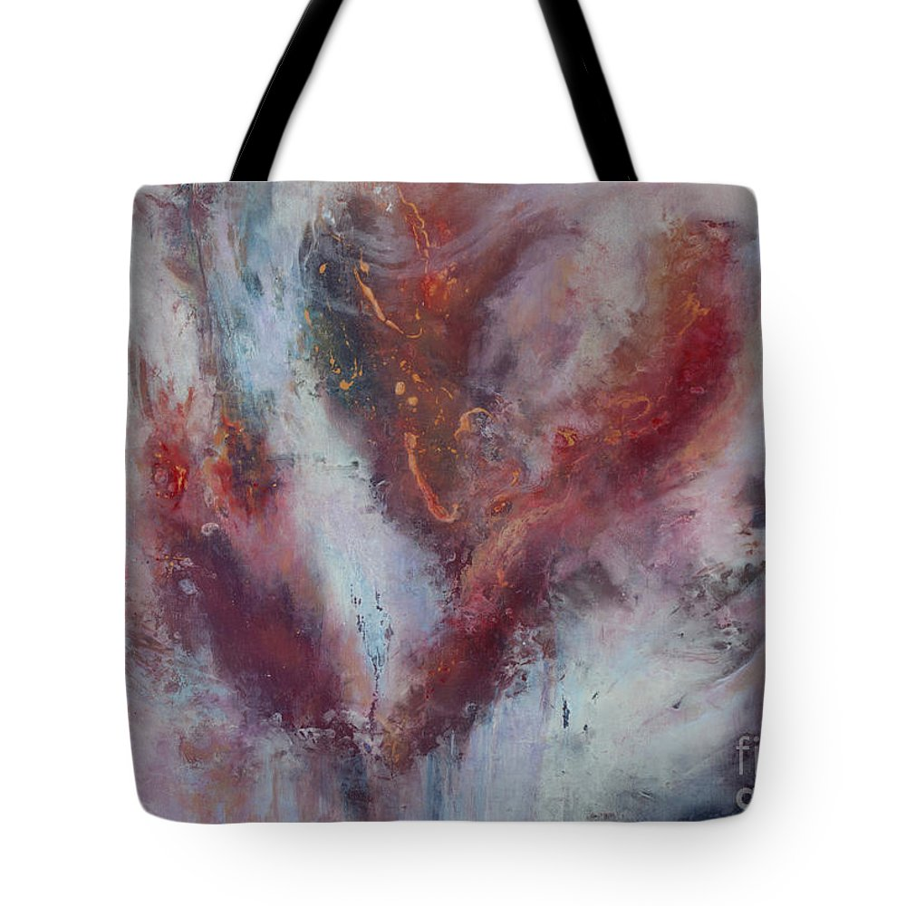 Abstract Tote Bag featuring the painting Feelings Of Love by Valerie Travers