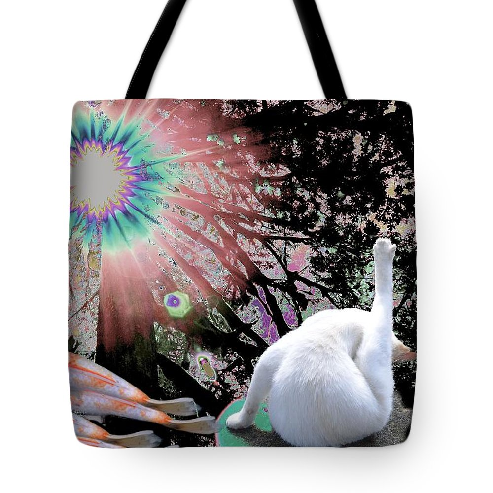 Cat Tote Bag featuring the photograph Feline Utopia by Laureen Murtha Menzl