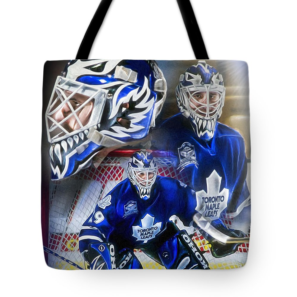 Felix Potvin Tote Bag featuring the painting Felix The Cat by Mike Oulton b256ca18c