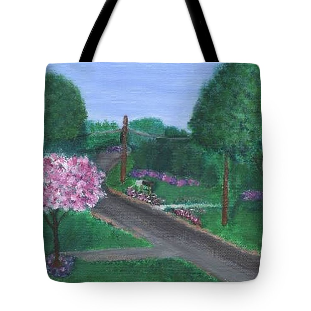 Plein Aire Tote Bag featuring the painting Fellowship by Sheila Mashaw
