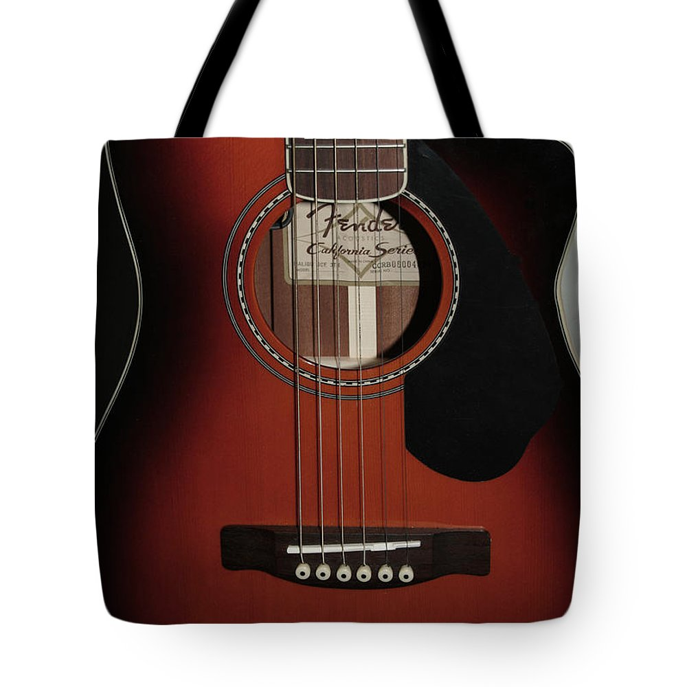 Fender Tote Bag featuring the photograph Fender by Linda Sannuti