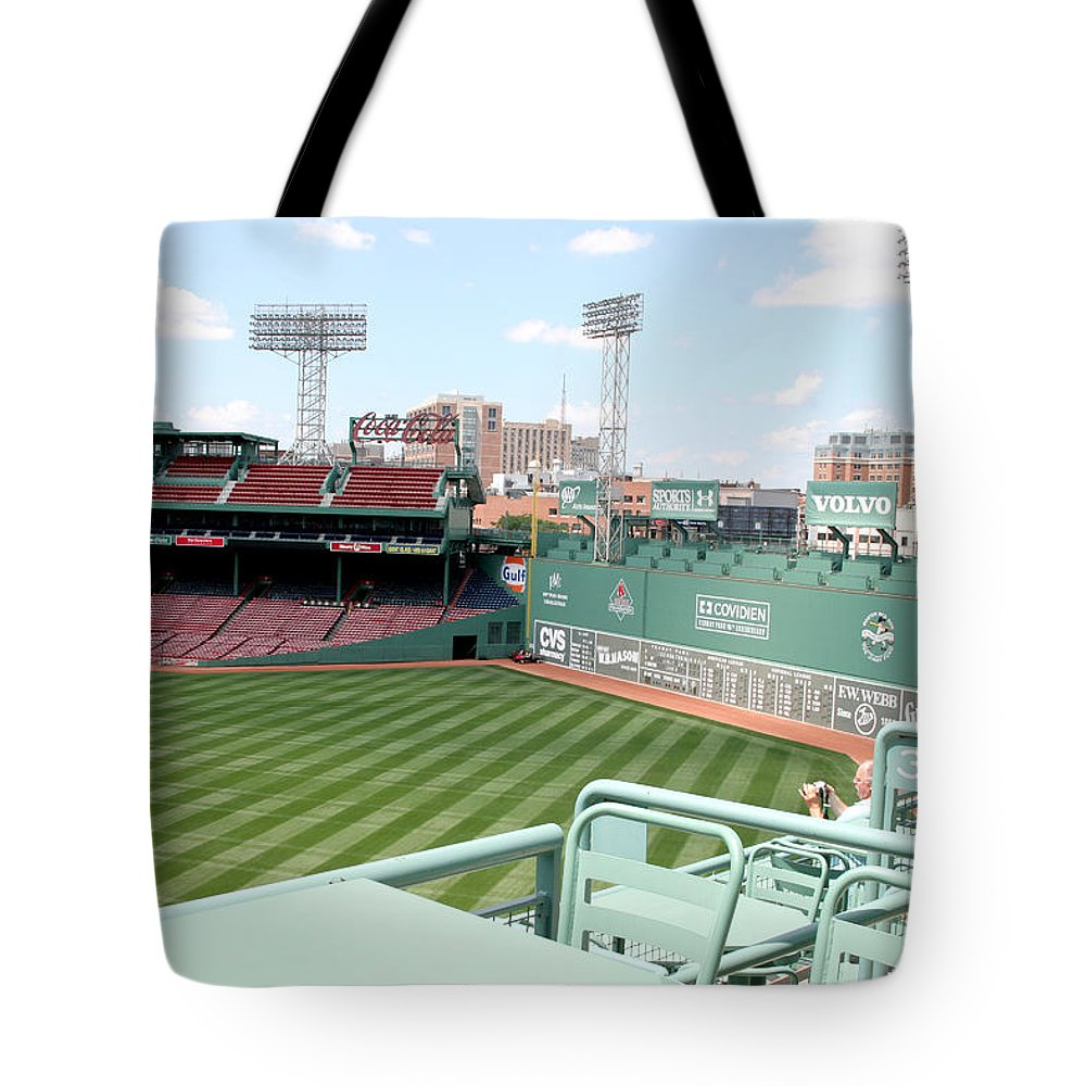 Mass Tote Bag featuring the photograph Fenway Park 10 by Kathy Hutchins