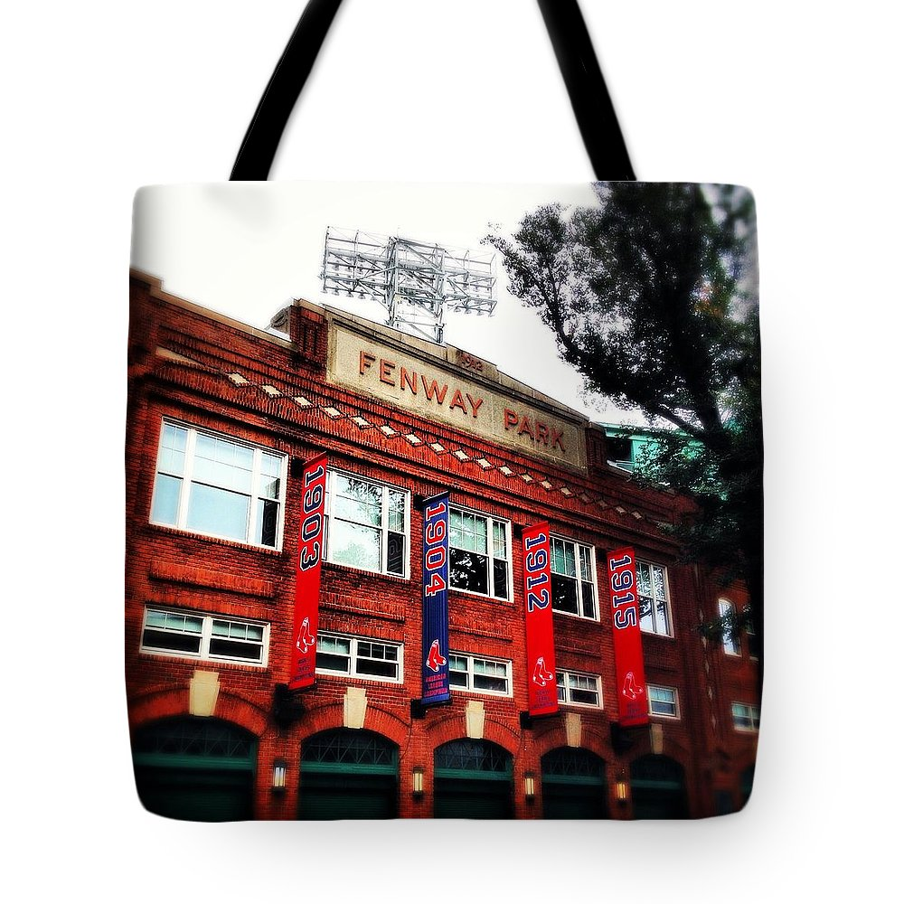 Fenway Tote Bag featuring the photograph Fenway Park In October 2013 by David Stone