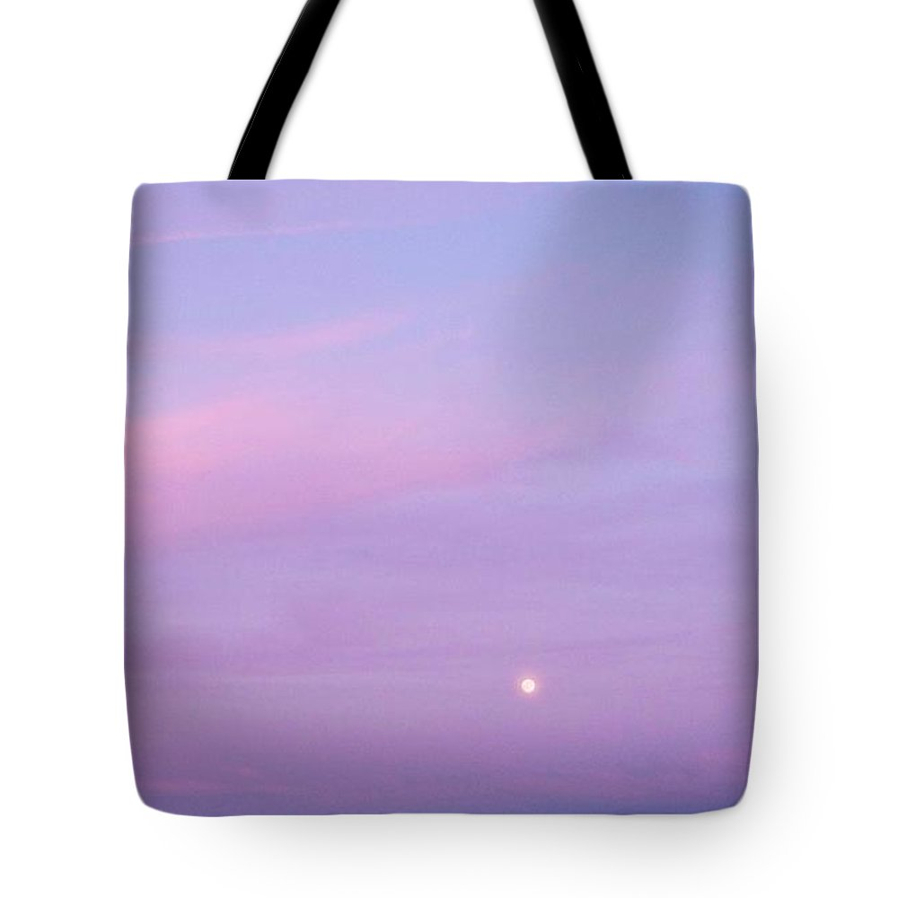 Fenwick Tote Bag featuring the photograph Fenwick Delaware Twilight Moon by Eric Schiabor