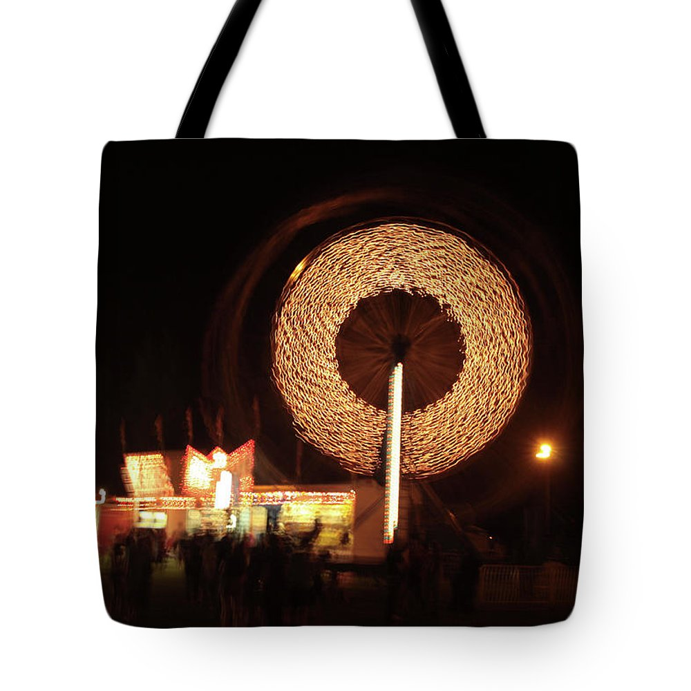 Carnival Tote Bag featuring the photograph Ferris Wheel Spin by Karol Livote