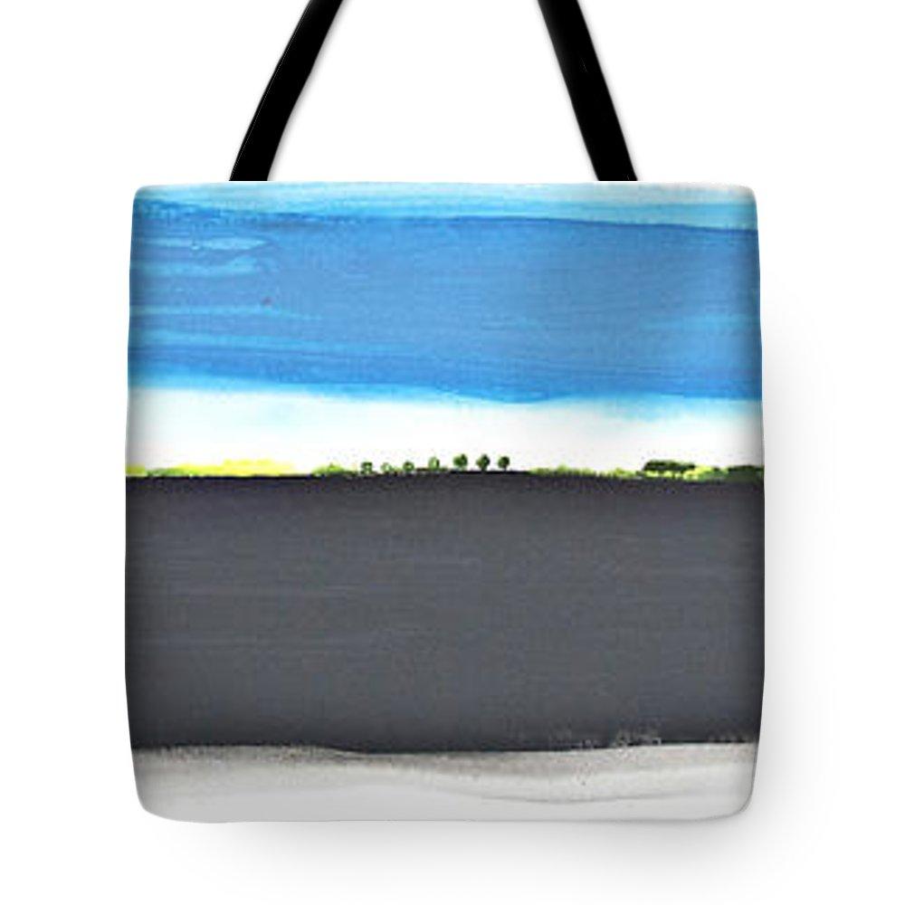 Landscape Tote Bag featuring the painting Fertile Field by Bjorn Sjogren