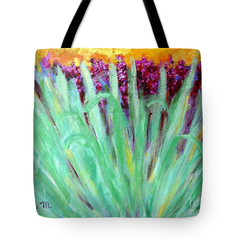 Abstract Tote Bag featuring the painting Festoon by Laurie Morgan