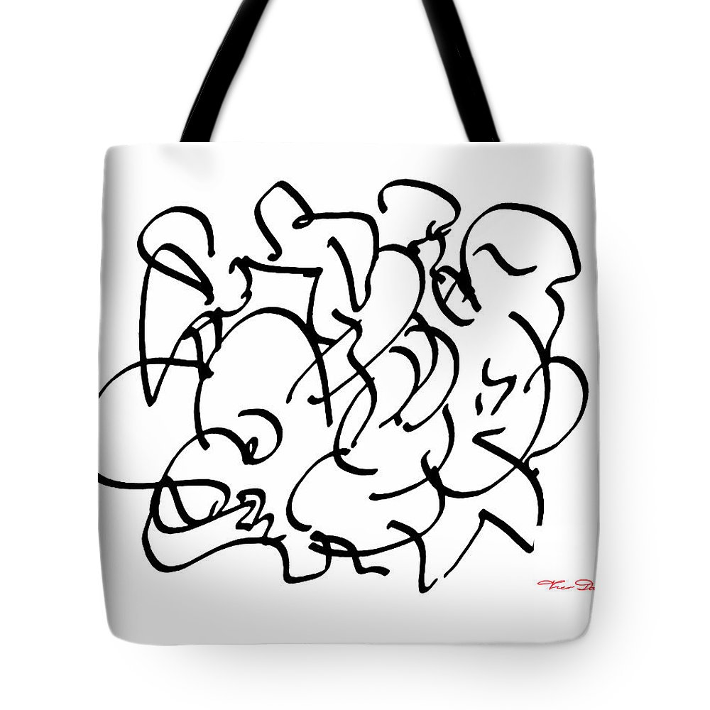 Theo Danella Tote Bag featuring the drawing Fg 2 by Theo Danella