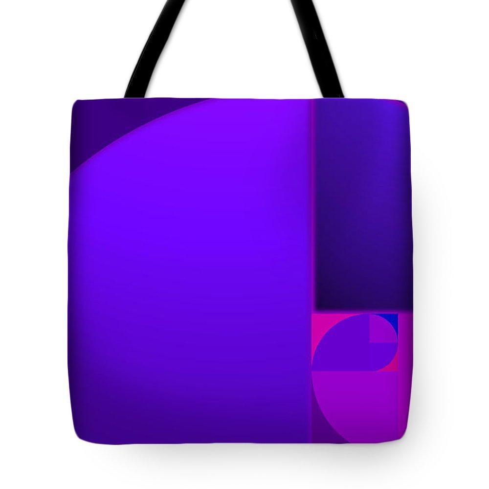 Nautilus Tote Bag featuring the painting Fibonacci Blue by Charles Stuart