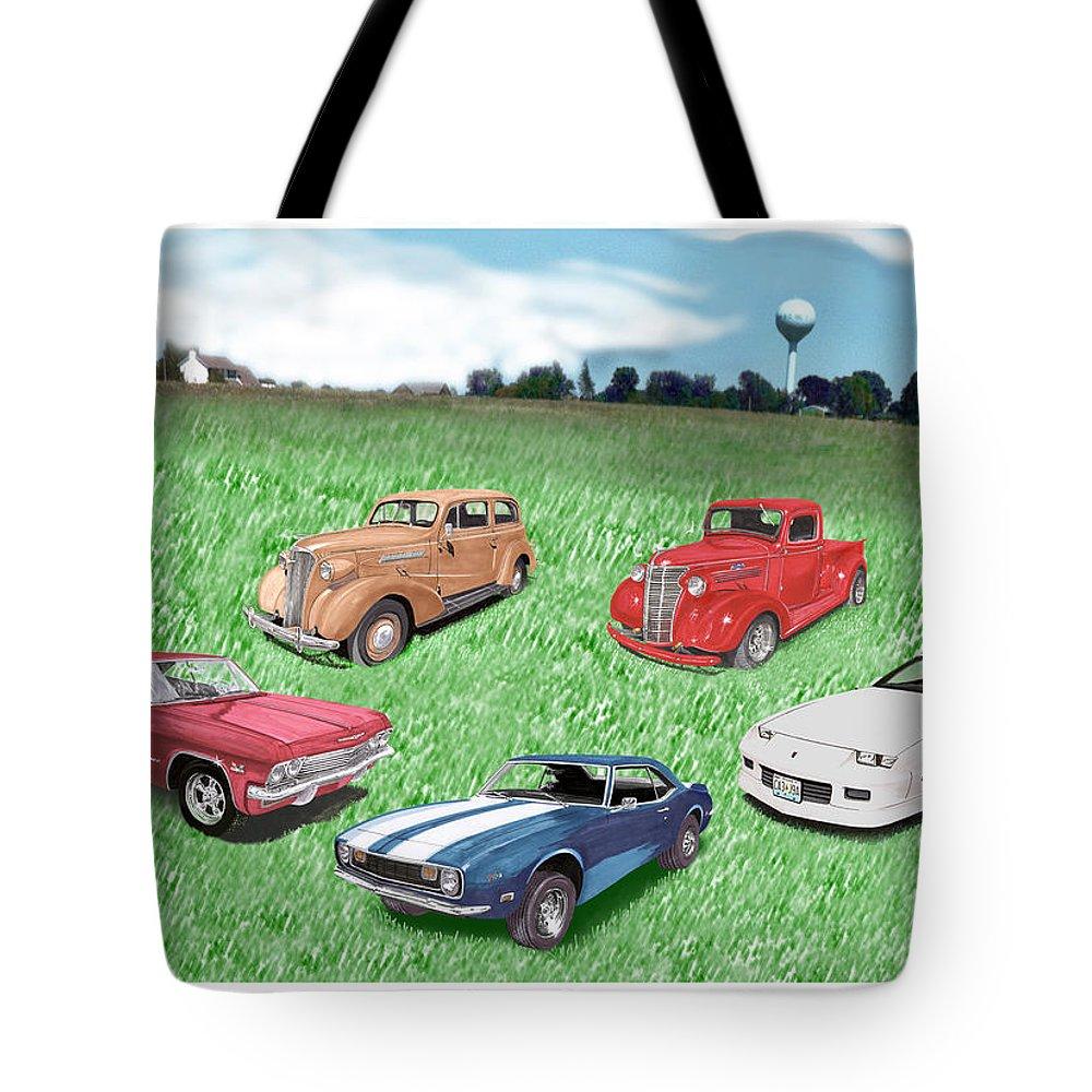 Impalas Mixed Media Tote Bags