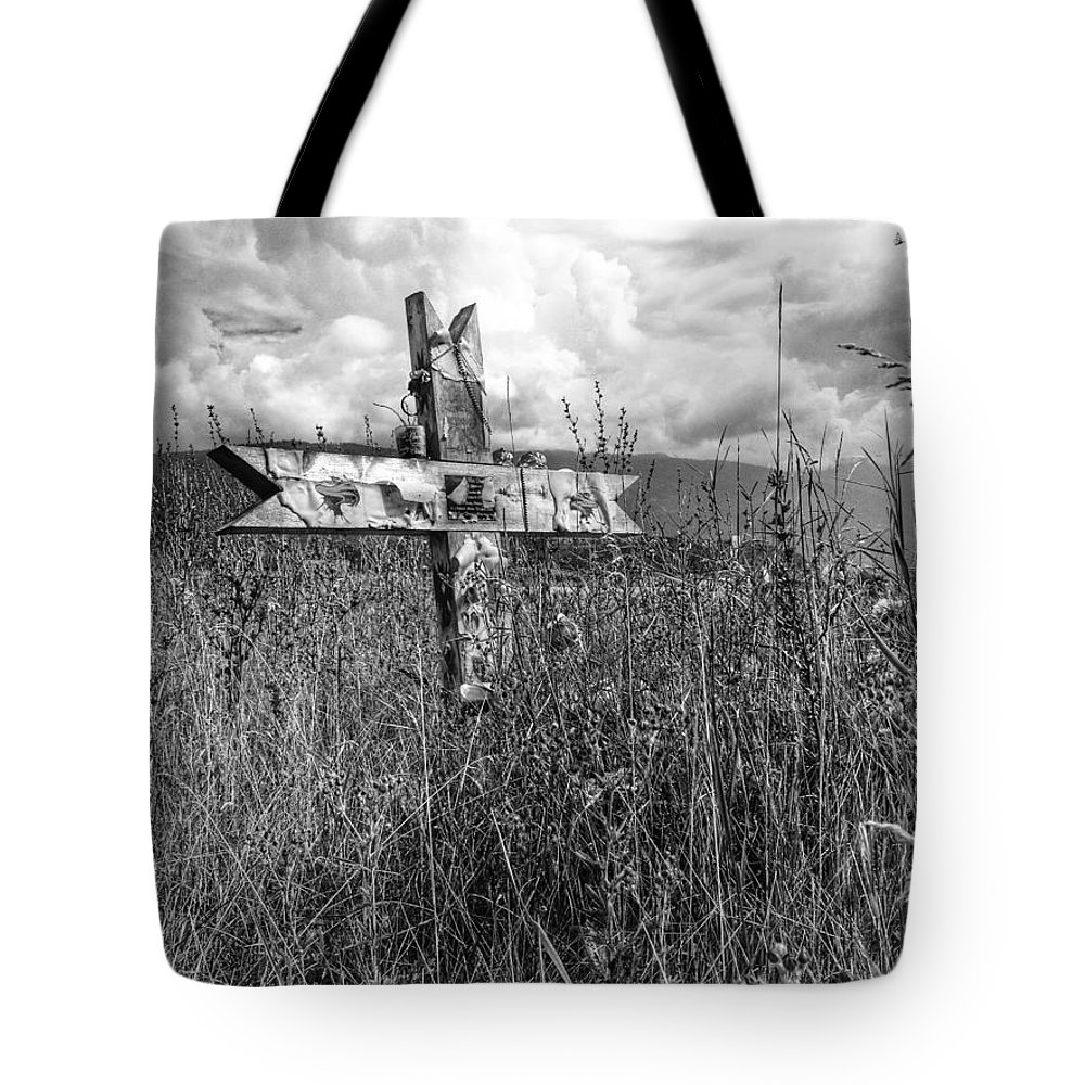 Graveyard Tote Bag featuring the photograph Field Of Faith by The Artist Project