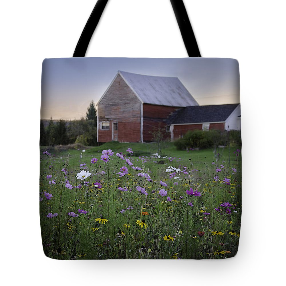 Flowers Tote Bag featuring the photograph Field Of Flowers by Lisa Bryant