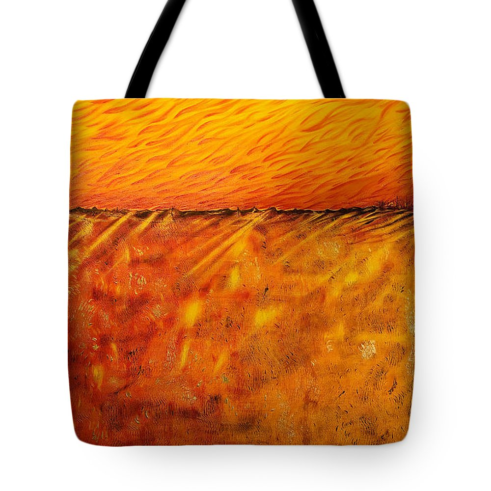 Acrylic Tote Bag featuring the painting Field Of Gold by Jo-Anne Elniski