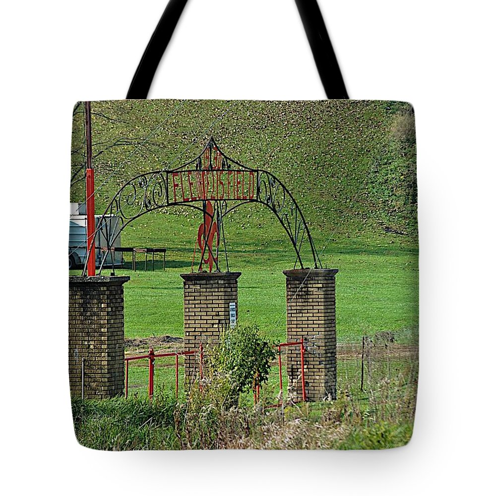 Entry Gate Tote Bag featuring the photograph Field Of Honor by Joseph Yarbrough