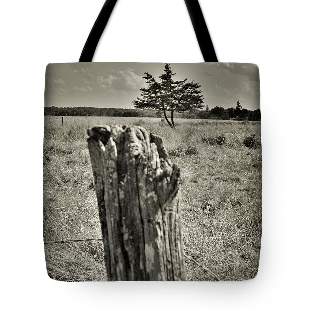 Tote Bag featuring the photograph Field Off Slaughter Rd 2 by Chet B Simpson