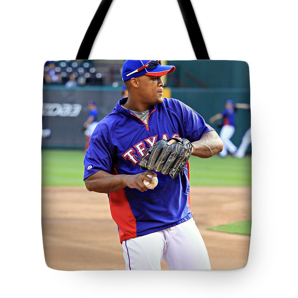 Baseball Tote Bag featuring the photograph Fielding Practice by Stephen Stookey