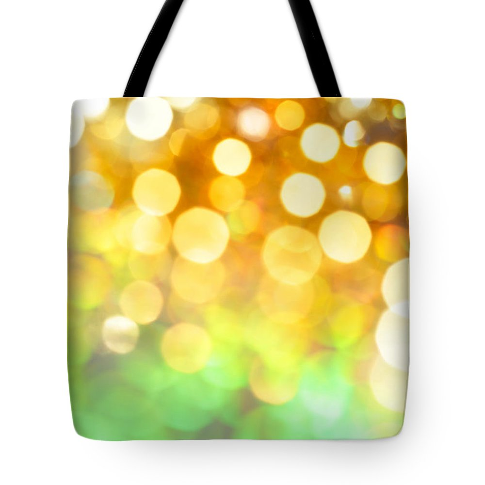 Abstract Tote Bag featuring the photograph Fields Of Gold by Dazzle Zazz