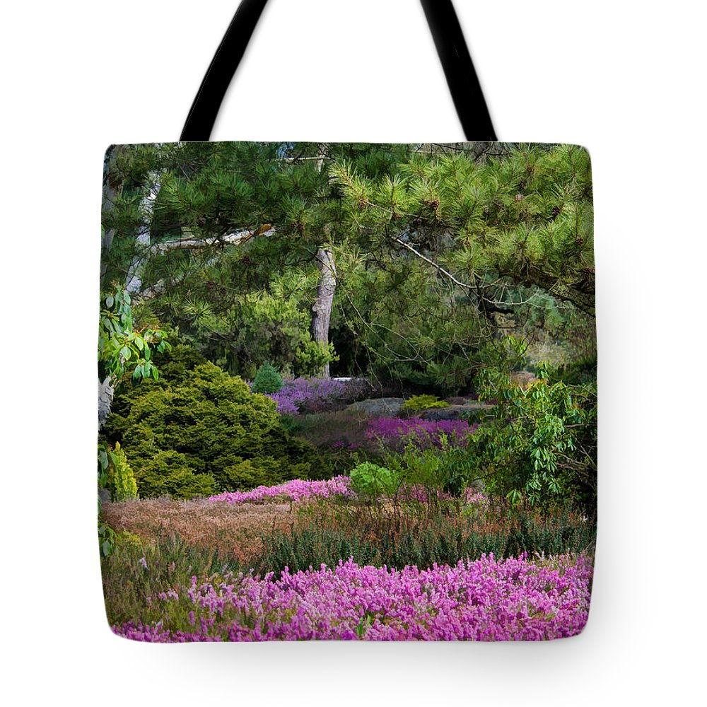 Heather Tote Bag featuring the photograph Fields Of Heather by Jordan Blackstone